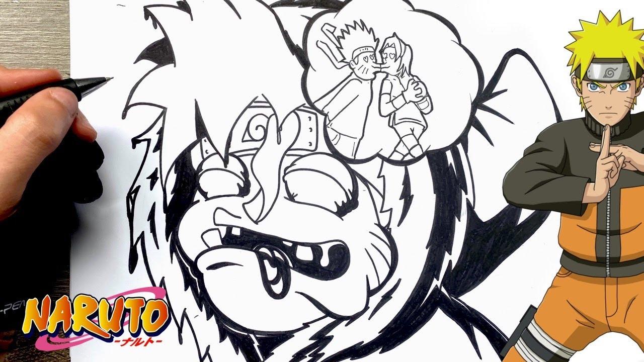 Dessin caricature de Naruto bébé