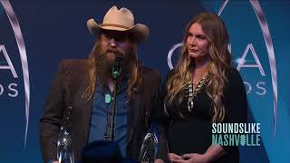 Chris Stapleton Wins CMA for Male Vocalist of the Year