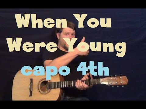 When You Were Young (The Killers) Easy Strum Guitar Lesson Capo 4th Fret Tutorial