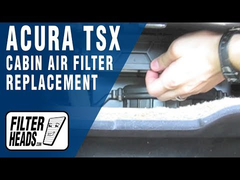 Replace Cabin Air Filter Acura TSX - YouTube