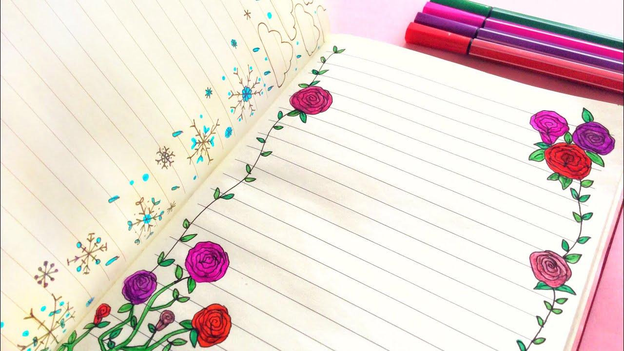 42ada94a420b1 تزيين الدفاتر من الداخل  1   - الجزء الأول - العودة للمدارس. Simply Cute  Ideas