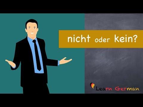Learn German | German Grammar | Kein oder nicht | A1