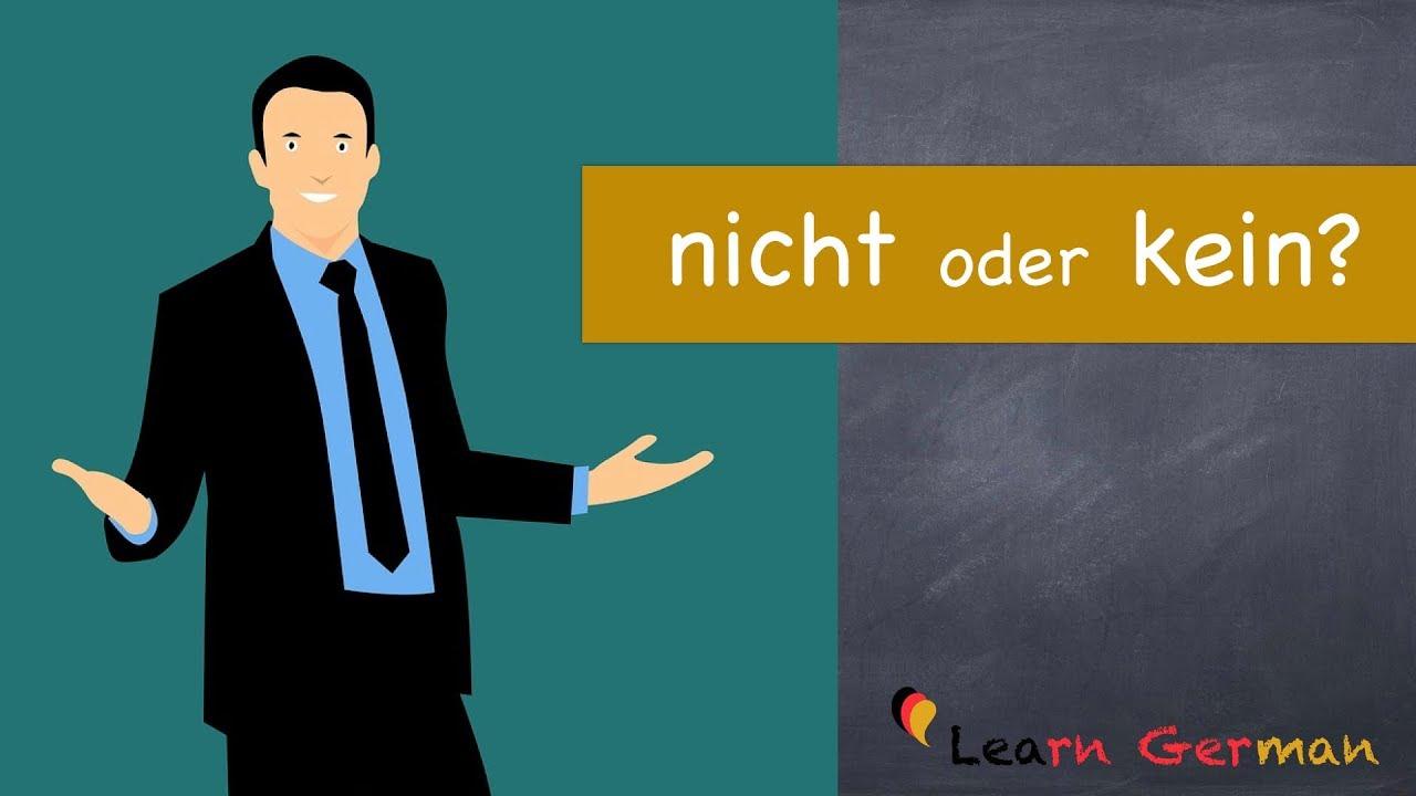 Download Learn German   German Grammar   Kein oder nicht   A1