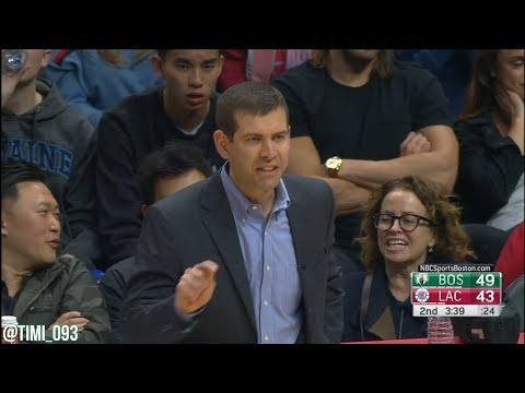 Brad Stevens Technical Foul vs Los Angeles Clippers (01/24/2018)