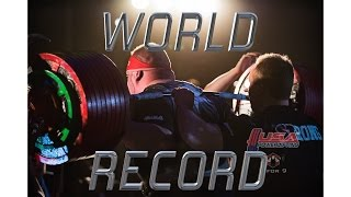 Powerlifting World Record | 1,102# Squat | 885# Bench | 816# Deadlift | 2,803# Total