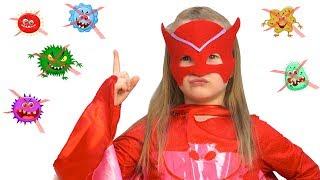 Богдана-супергероиня объясняет правила чистоты!
