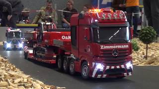 X-TREME RC TRUCK MERCEDES 4 AXES LOWER-LOADER WITH STEERING AXES