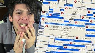 THE ROBLOX GAME TOOK MY PC!! WINDOWS ERROR