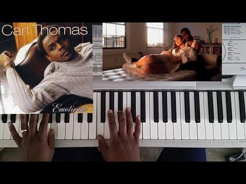 Carl Thomas - I wish (piano tutorial w/bridge)