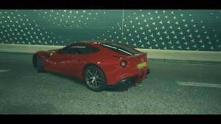Ferrari F12 Berlinetta with Frequency Intellegence exhaust with valve open and closed