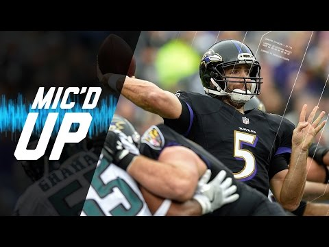 Mic'd Up Joe Flacco Leads Ravens To Big Win Over Eagles  | NFL Films | Sound FX
