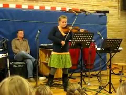 Amalie playing a Bourree by J. S. Bach