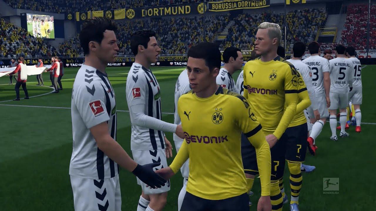 FIFA 19   Dortmund vs Freiburg   Bundesliga 2019/20 ...