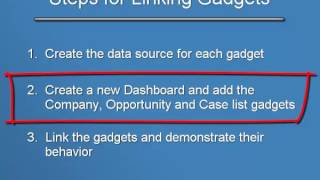 sage crm 112 training interactive dashboard linked gadgets