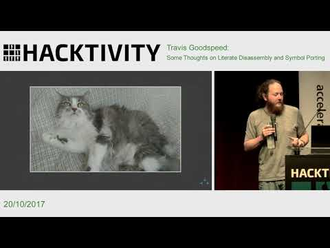 Travis Goodspeed - Some Thoughts on Literate Disassembly and Symbol Porting
