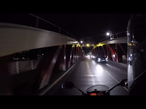 English City - Newcastle-upon-Tyne - Night Ride 4K