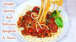 Very simple and yummy Spaghetti and Sauce | Minced meat spaghetti sauce.