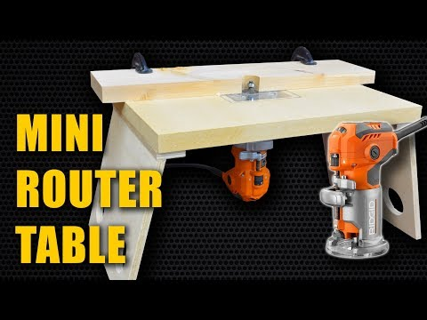 Make a Mini Router Table for Trim Router (Laminate Router) - YouTube