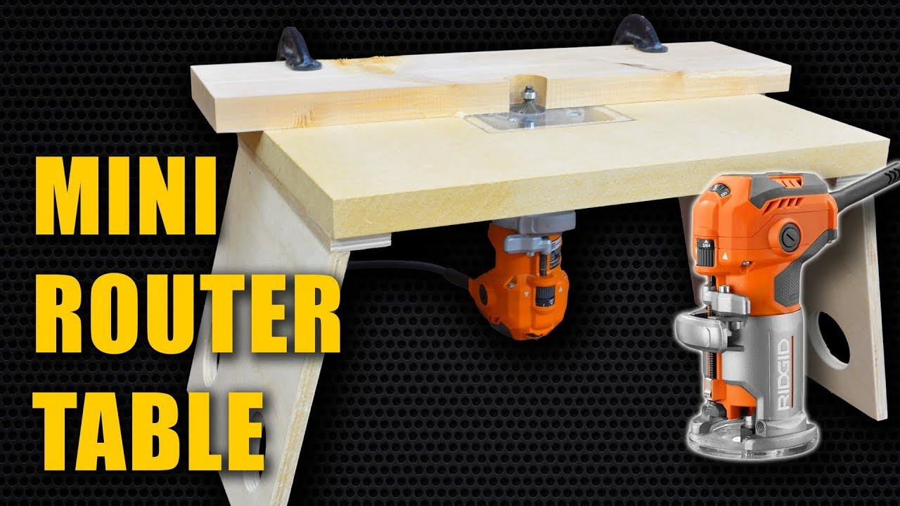 make a mini router table for trim router laminate router