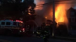 House Fire in Douglaston, NYC on Douglaston Pkwy 8/14/12