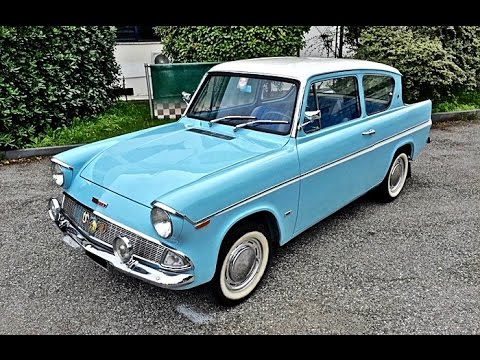 Ford Anglia 106E Deluxe, model year 1962