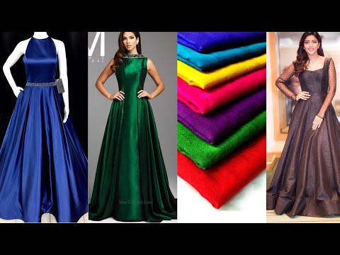 plain-partywear-gown-designs-||-easy-gown-making-ideas-from-plain-fabric-||-simple-gown-designs