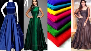 Plain partywear gown designs || Easy gown making ideas from plain fabric || Simple gown designs