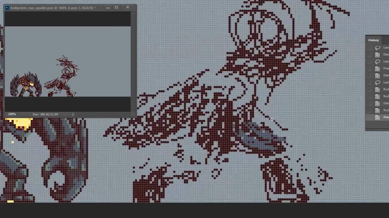 Planet Centauri How To Pixel Art 5 Lava Golem
