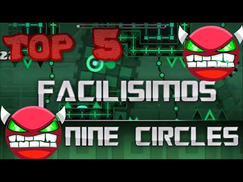 TOP 5 FACILISIMOS NINE CIRCLES EN GEOMETRY DASH(HD)