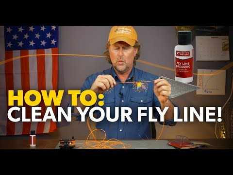 How To CLEAN Your FLY LINE!