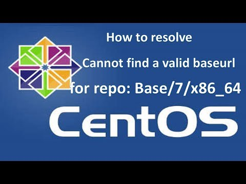 CentOS cannot find a valid baseurl for repo base/7/x86_64