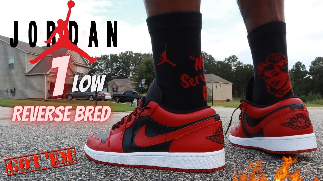 "JORDAN 1 LOW ""REVERSE BRED"" REVIEW & ON FEET W/ LACE SWAPS!!"