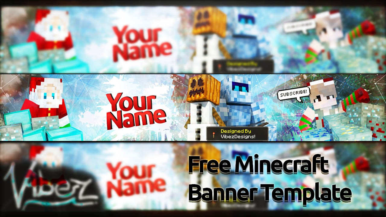 Free Minecraft Christmas Banner Template! - YouTube