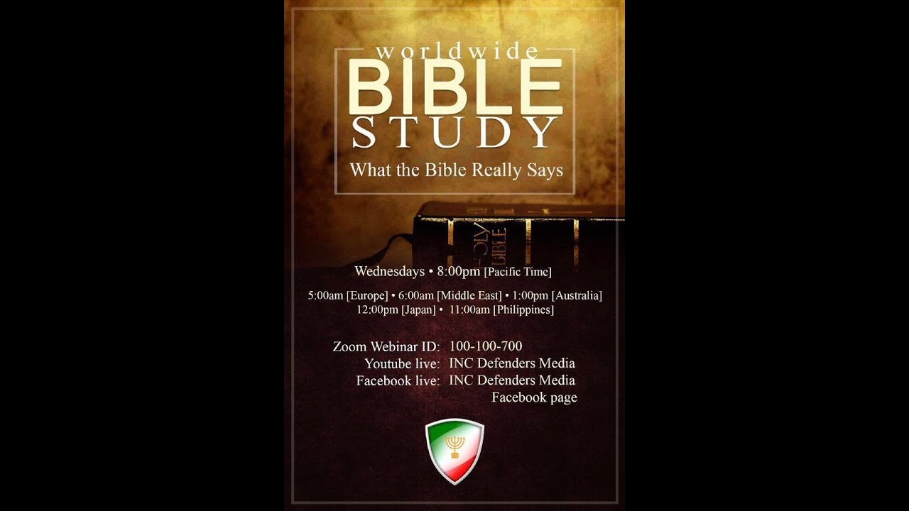 Worldwide Bible Study - August 2, 2017