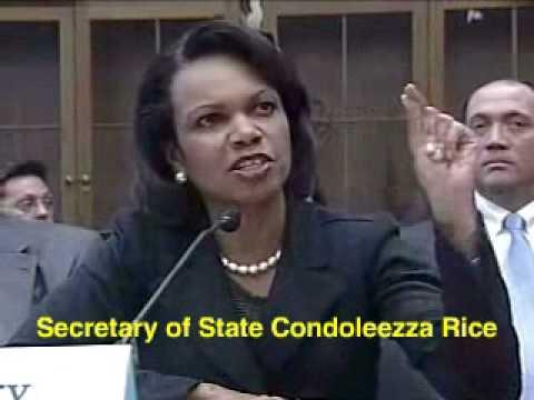Condoleezza Rice: Liar, Secretary of State, War Criminal pt3
