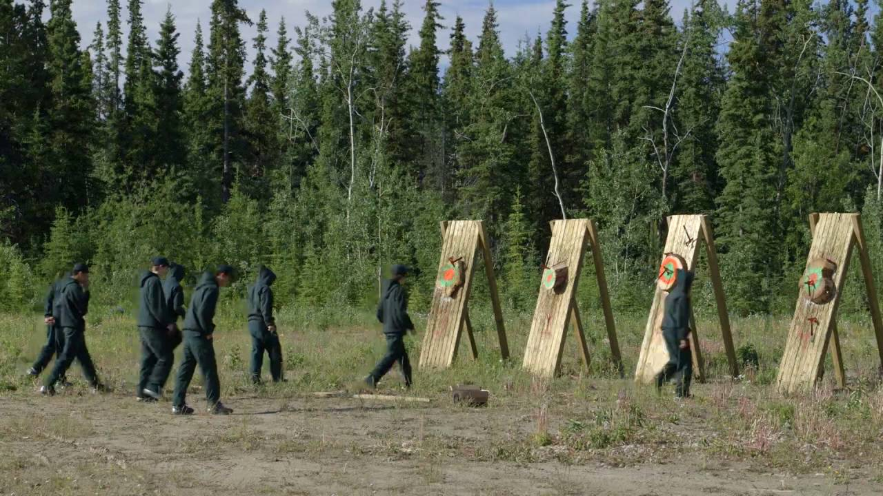 Junior Canadian Rangers - Summer Training - Axe Throwing