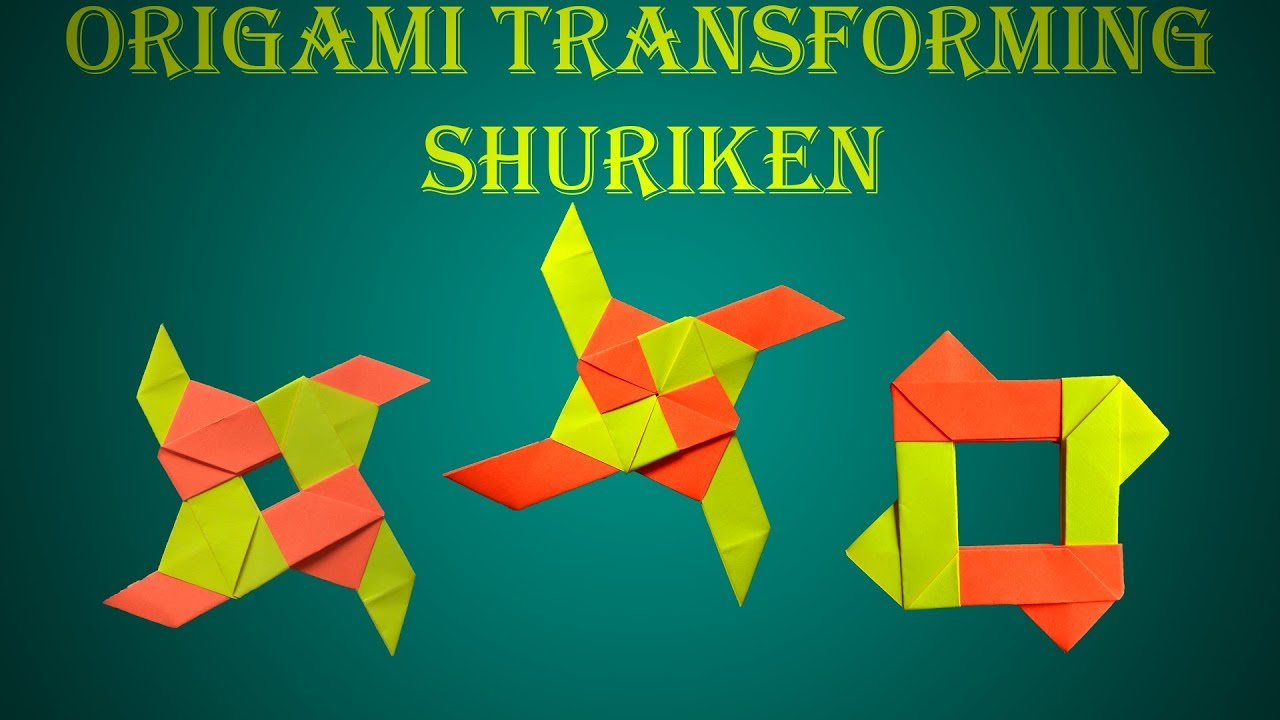 Transforming Ninja Star Tutorial - How To Make An Origami ... | 720x1280