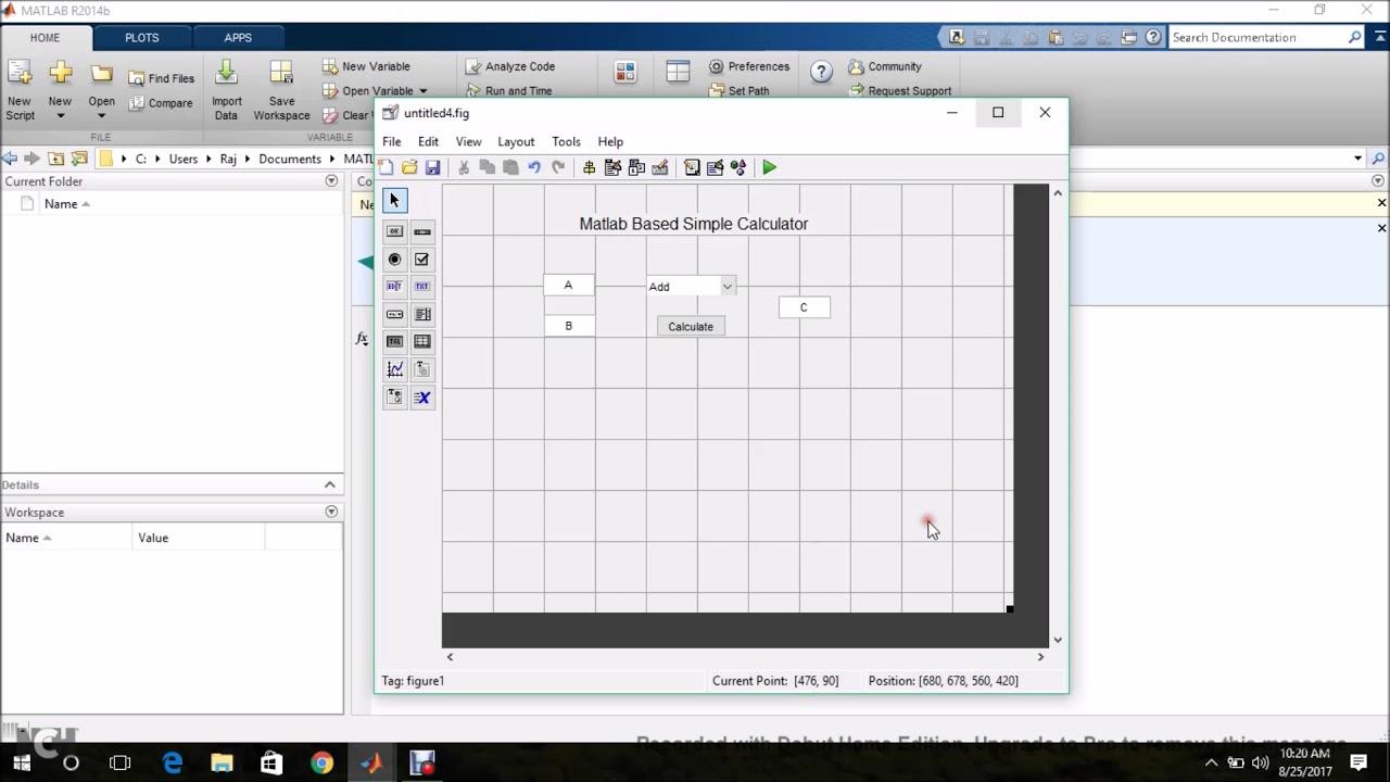 Matlab Graphical User Interface (GUI) - Simple Calculator - Diamond Matlab  Tutorials
