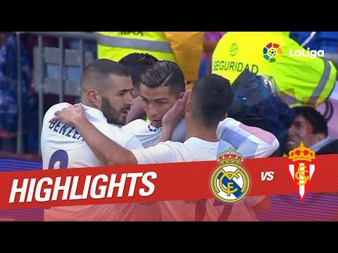 Resumen de Real Madrid vs Sporting de Gijón (2-1)
