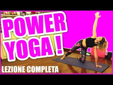 Power Yoga: Lezione in italiano per dimagrire 💪Allenamento completo per perdere peso da fare a casa