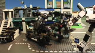 Transformers Stop Motion - Prowl vs Barricade Test footage