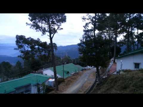 Visit to Kausani, Uttarakhand in Jan 2014-view of the Himalayan Ranges