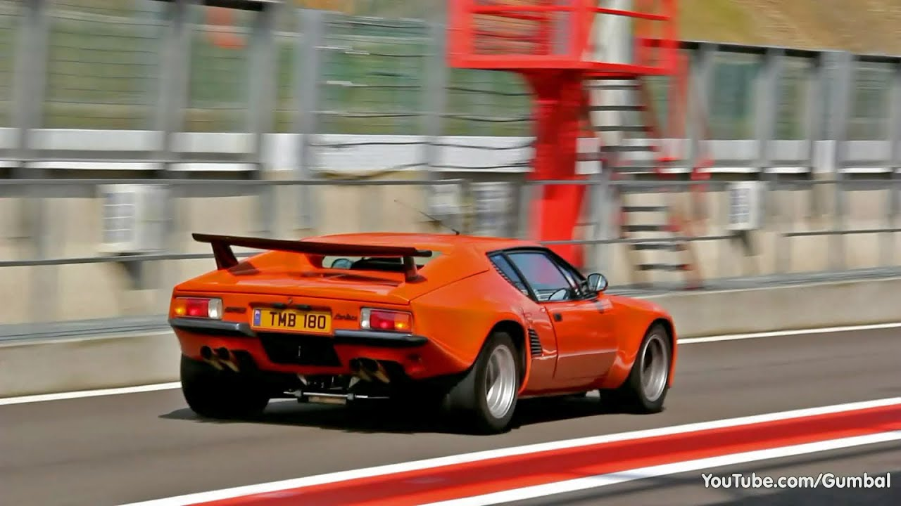 De Tomaso Pantera Exhaust Sounds On The Track