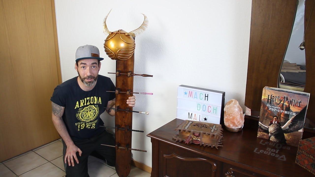 mach doch mal einen harry potter zauberstabhalter mit goldenem schnatz diy youtube. Black Bedroom Furniture Sets. Home Design Ideas