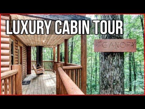 Luxury Cabin Tour - Hocking Hills Canopy Tree House Tour - Ohio