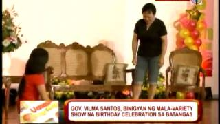 Vilma celebrates birthday with Tirso, Christopher