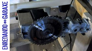 Make a table saw with the miter saw arm