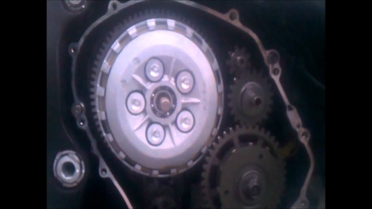 How to repair replace a scratched Honda CBR 600 1000 clutch cover engine cover - YouTube