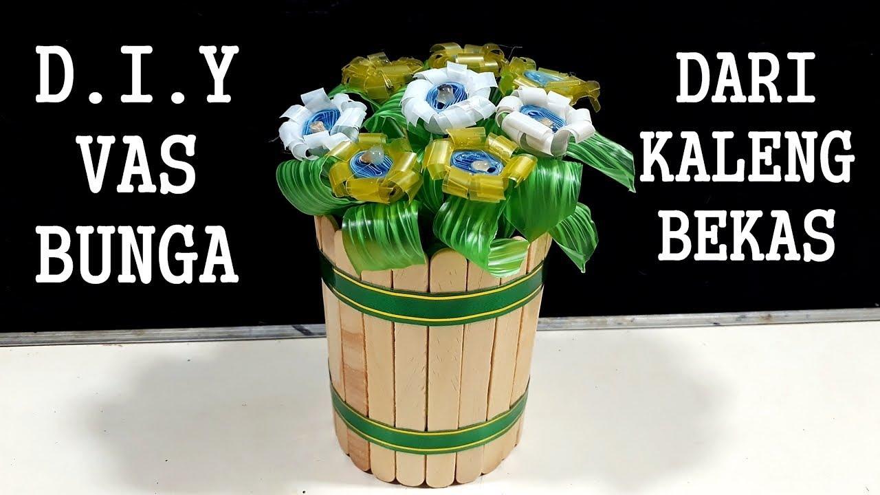 Vas Bunga Dari Sedotan Dan Cara Membuatnya
