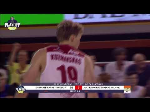 HIGHLIGHTS G4 LBA Playoff PosteMobile/ Germani Basket Brescia - EA7 Emporio Armani Milano 70-76